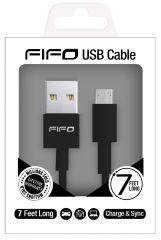 FIFO Colours USB for Micro USB Black 7ft