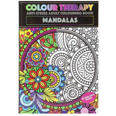 Colour Therapy A4 Colouring Book 48 Pages - Mandalas Design