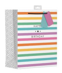 Gift Bag Large - Colourful Stripes