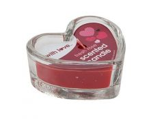 Glass Heart Candle