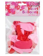 Heart Shaped Balloons Pack of 20