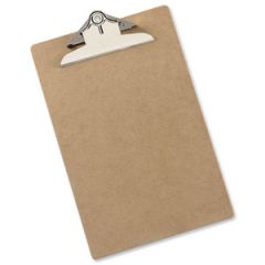 Foolscap/A4 Hardboard Clipboard with Spring Metal Clip