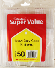 Super Value Clear Heavy Duty Knives 50's
