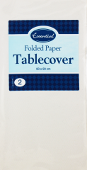 Essentials White Paper Table Covers 90cm x 90cm Hang Pack 2's