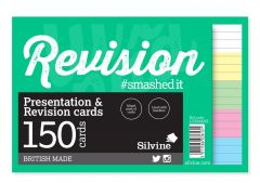 "Luxpad Lined Presentation & Revison Cards 6""x4"" 5 Assorted Colours 150's"