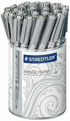 Staedtler Lumocolour Silver Metallic Marker Tub