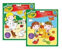 Crayola Farmyard & Seaside Colour & Sticker Book Assorted Designs