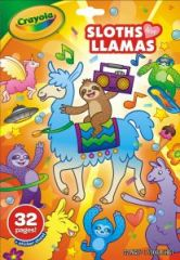 Crayola Sloths Love Llamas 32 Page Colouring Book