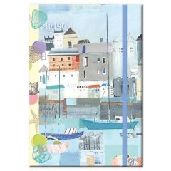A5 By The Sea Notebook with Lined Pages and Elastic Closure