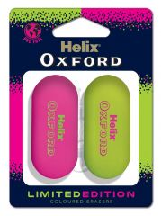 Oxford Clash 2 Pink Erasers Hang Pack