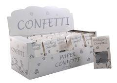 Silver Biodegradable Paper Confetti 10g CDU