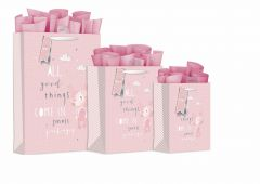 Gift Bag Extra Large - Baby Bunny Pink