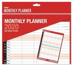 2020 Red & Black Monthly Planner