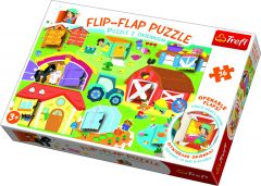 36 Piece Flip Flap Puzzle - On The Farm
