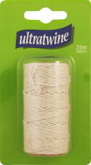 Ultratwine 25m Spool Fine Cotton Twine Hang Pack
