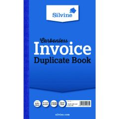 Silvine Carbonless Invoice Duplicate Book 210mm x 127mm