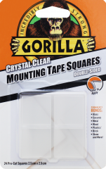 Gorilla Mounting Tape Squares Clear 2.5cm x 2.5cm