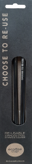 ecoffee Stainless Steel Reuseable Straws 2 Pack & Cleaner