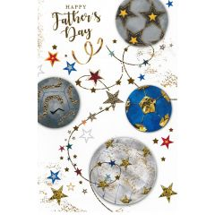 Father's Day Card Open - Footballs
