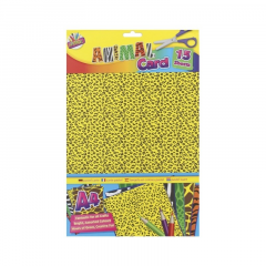 Animal Print Card A4 15 Pack Assorted Designs