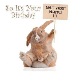 Birthday Card Rabbit On