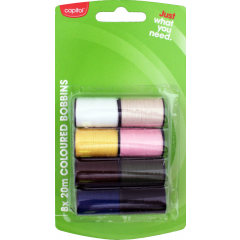 Capitol Coloured Thread 8 x 20m Bobbins