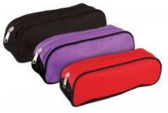 Oval Wedge Pencil Case 3 Assorted Colours
