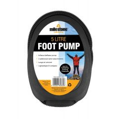Milestone Camping Foot Pump 5L