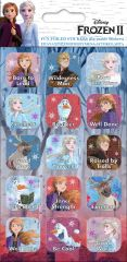 Licensed Character Stickers Small Foil Packs - Frozen 2 Captions