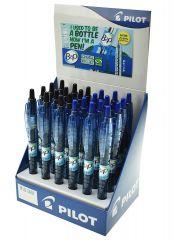 Wholesale Pilot Bottle to Pen Retractable Gel Pen Black/Blue CDU 24