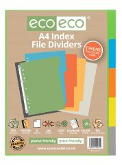 Wholesale ecoeco A4 Index File Dividers 5 Part