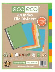 ecoeco A4 Index File Dividers 10 Part