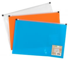 Wholesale ecoeco A4+ Expanding Zip Files 3 Assorted Colours