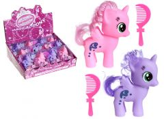 Pony With Wings & Long Hair 7.5cm Assorted Pink & Purple