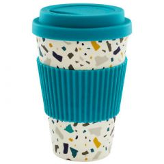 Cambridge Eco-Friendly Travel Mug 470ml - Teal Terrazo