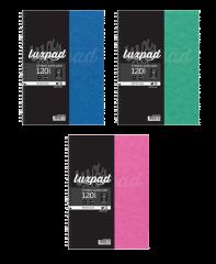 Silvine Luxpad A4 Twin Wire Pressboard Notebook 5 Asstd Colours