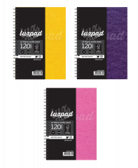 Silvine Luxpad A5 Twin Wire Pressboard Notebook 5 Asstd Colours