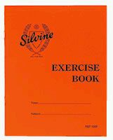 Silvine Exercise Book Red Cover 40 Lined Pages 203mm x 165mm