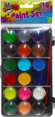 Paint Box 18 Colours with Brush Hang Pack