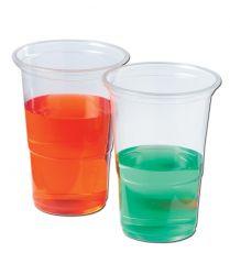 15 Super Value Half Pint Plastic Glasses