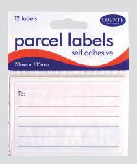 Parcel Labels Self Adhesive 12s