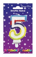 Number 5 Cake Candle