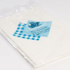 Essentials 2 Plastic Table Covers 87 x 87cm Hang Pack