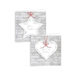 Star & Heart 12 Square Cards CDU