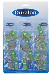 Duralon Safety Pins Carded