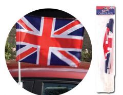 Union Jack Car Flags (2) Hang Pack