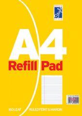 Office Style A4 Refill Pad 160 Sheets Feint & Margin