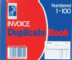 Office Style Invoice Duplicate Book 105mm x 127mm