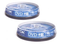 TDK 10 Disc DVD+R Spindle