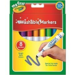 Crayola My First Crayola My First Washable Markers Hang Pack 8's